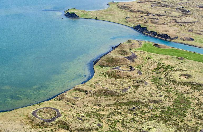 Lake Myvatn colorful shore