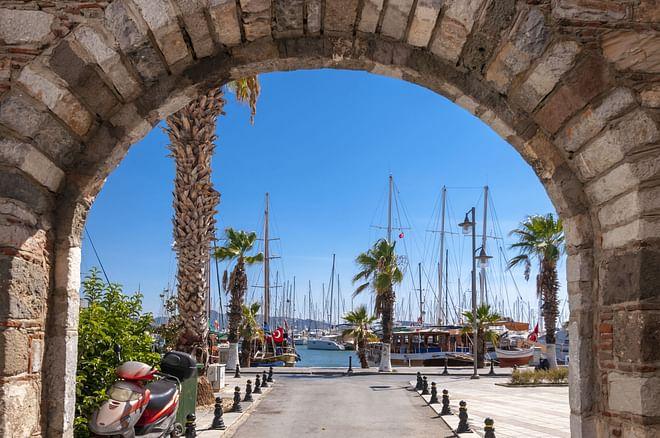 Typical Aegean architecture in Bodrum, Turkey