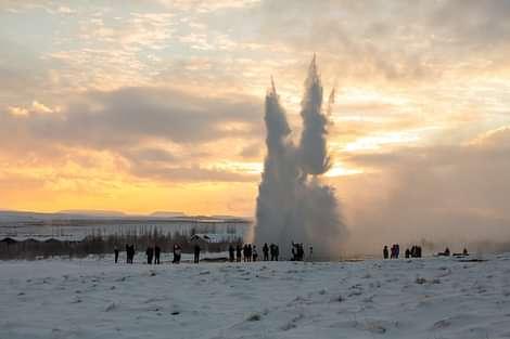 Geyser in the winter