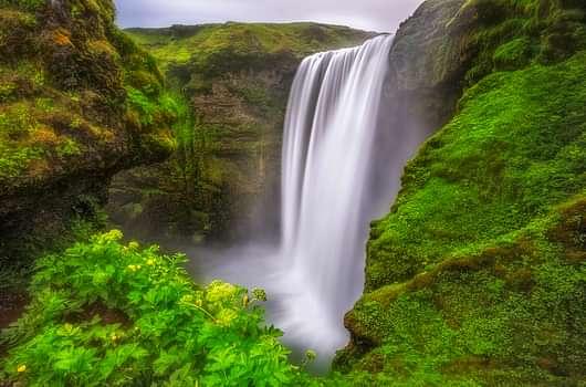 South Coast day tour, Skogafoss waterfall