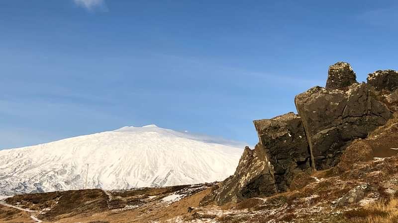 Ice covered volcano Snæfellsjökull Iceland