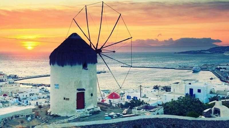 Windmill of Mykonos island.