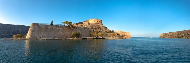 Panoramic View of Spinaloga Island, Crete, Greece