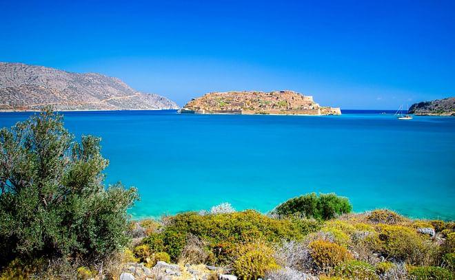 Island of spinaloga, Crete, Greece