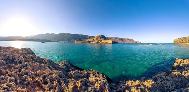 Crete - Panoramic view of Spinalonga Island