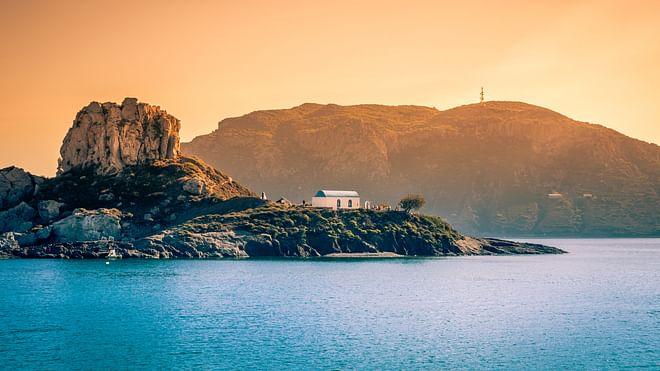 Romantische Hochzeit auf Kos Insel bei Kefalos Bucht, Griechenland