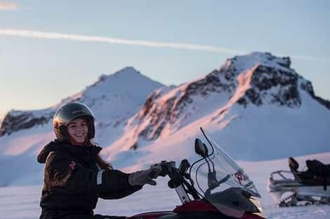 Snowmobile on Langjökull
