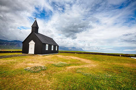 Picturesque church on the Snaefellsnes peninsula in Iceland
