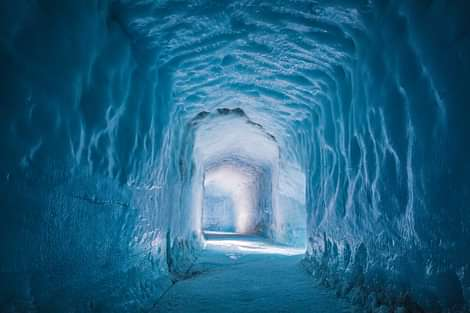 Into the Glacier Ice Cave in Langjökull Glacier in Iceland