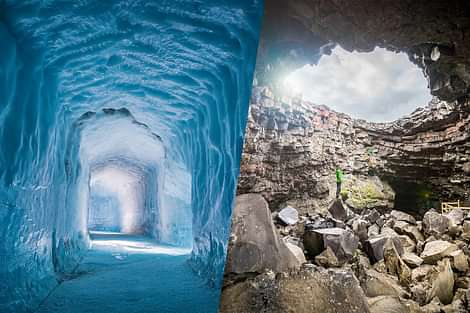 Ice cave and Lave Tunnel