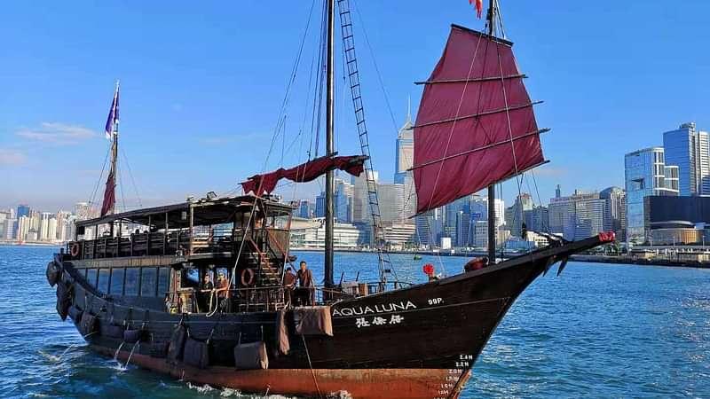 Cruise of Aqua Luna, Victoria Harbour, Hong Kong