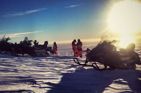 Snowmobiling on Solheimajökull