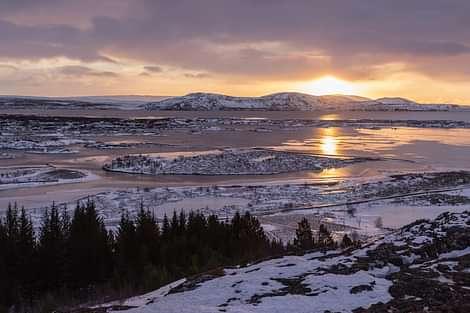 Thingvellir valley looking over Thingvalavatn