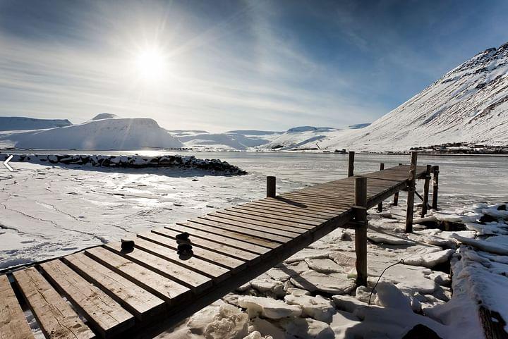 Ísafjörður að vetri til