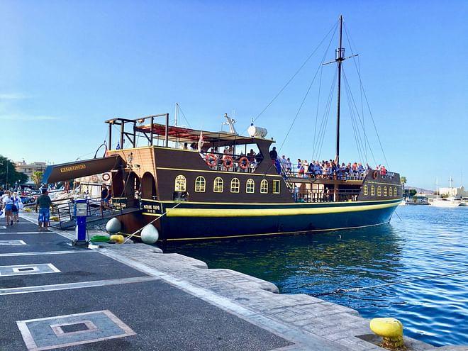 Piraten themenorientiertes Ausflugsboot, Kos, Griechenland