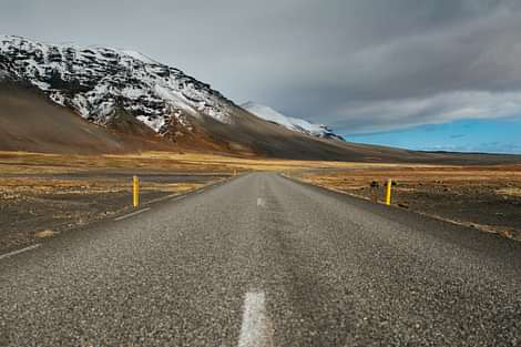 Highway 1 in Iceland on South Coast