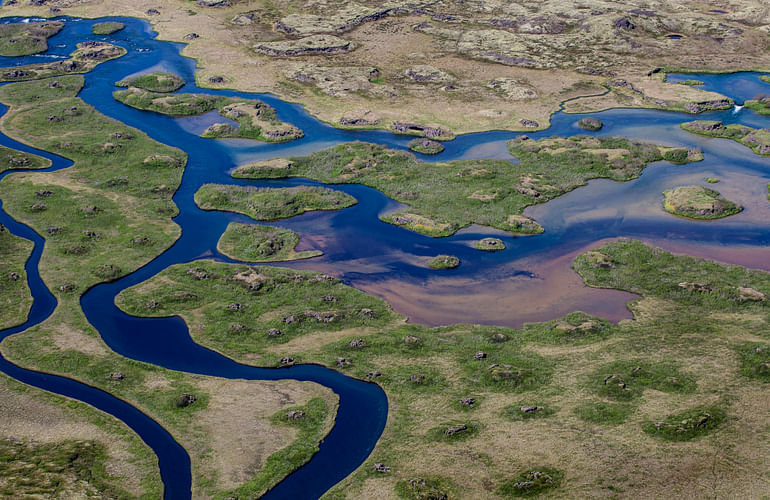River system at Lake Myvatn