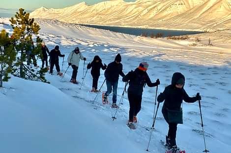Hiking on Snow, Wanderung im Schnee