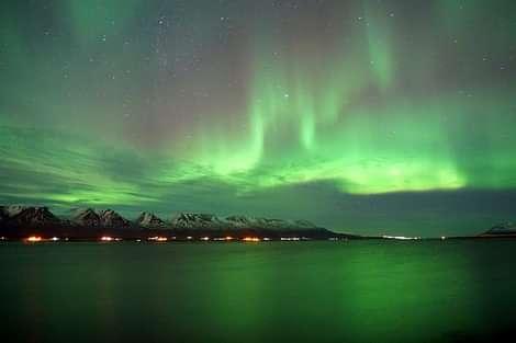 Northern Lights Iceland Nordlichter über Island