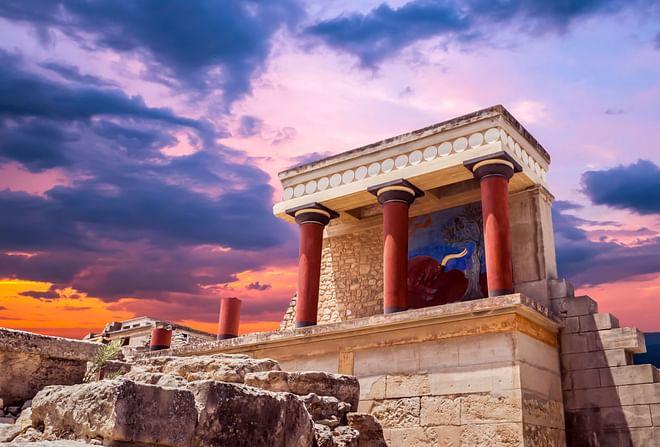 The North Portico in Knossos, Crete, Greece