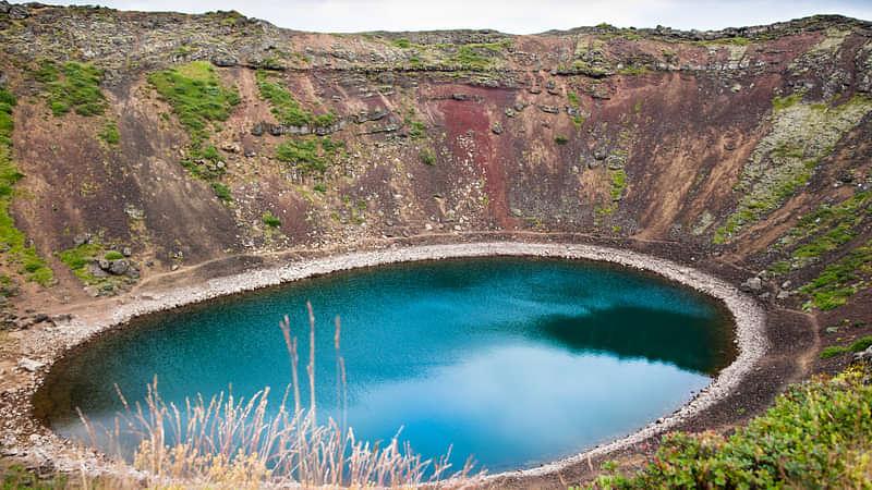 Kerið crater lake on Golden Circle Tour