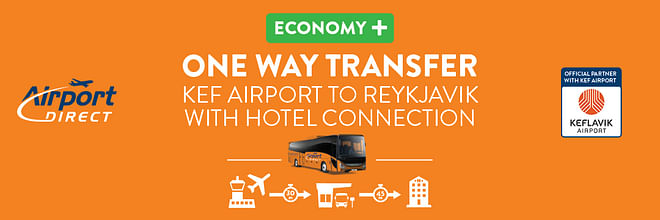 Airport Direct Economy + Hotel drop off (Keflavik airport to Reykjavik)