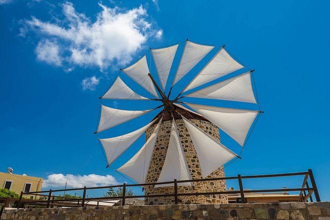 Antimachia Windmühle, Kos Insel, Griechenland