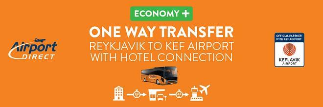 Airport Direct Economy + Hotel pick up (Reykjavik to Keflavik Airport)