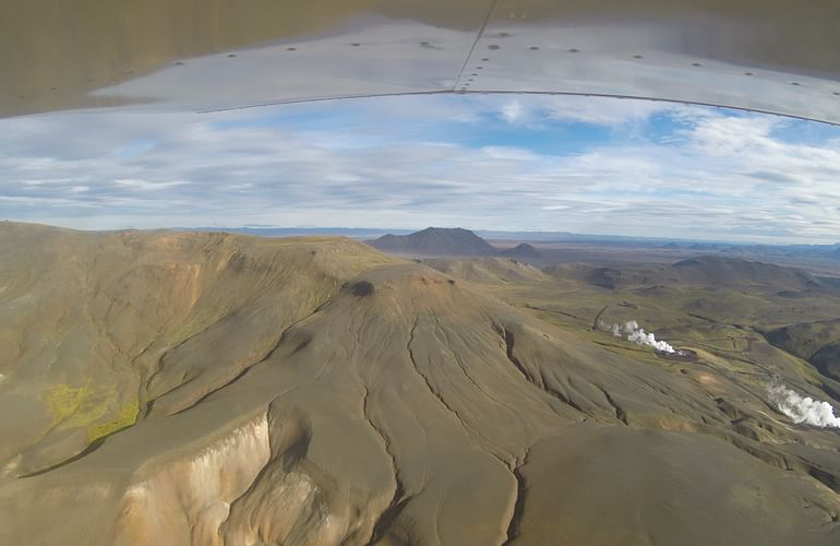 Fly over Iceland