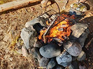 Veneretki Kolima järvellä Rakaja saareen & nuotio eväät
