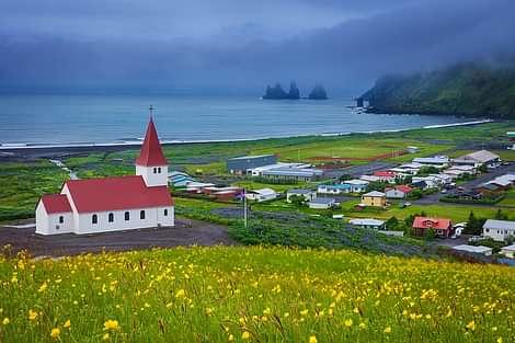 Vík í Mýrdal is a small quaint town