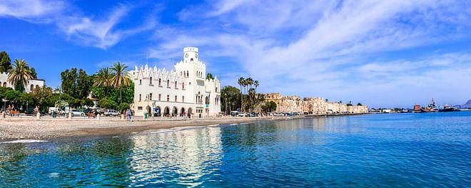 Malerischer Hafen der Insel Kos, Griechenland