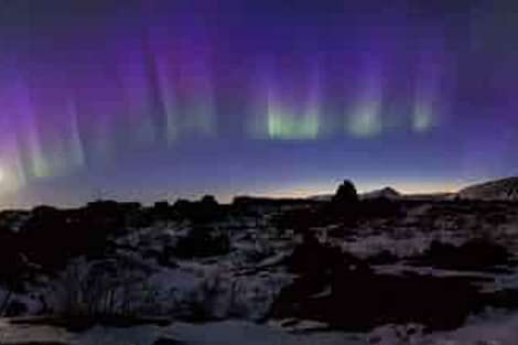 Northern Lights or Aurora Borealis in Iceland