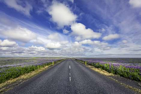 Highway nr 1 on South Coast in Iceland