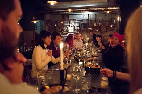 People Enjoying Dinner